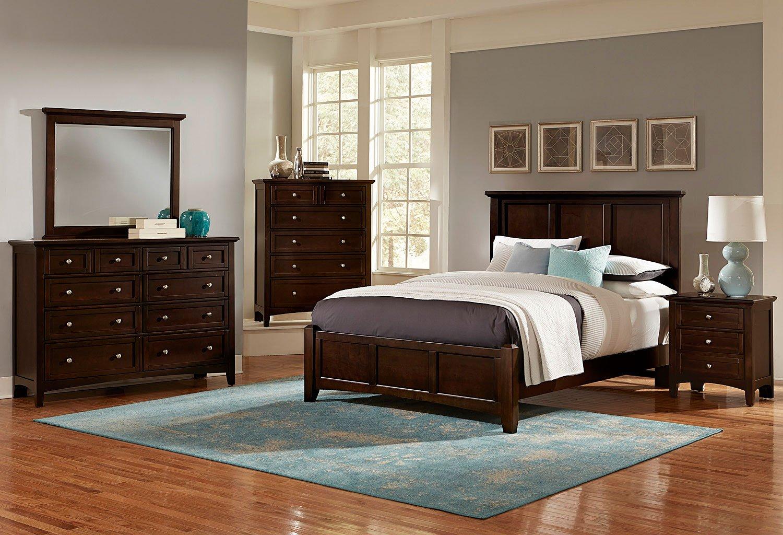 Bonanza Mansion Bedroom Set (Merlot)