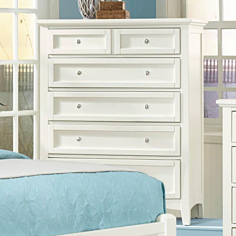 Vaughan Bassett Bedroom Set: Bonanza Mansion Bedroom Set (White) Vaughan Bassett