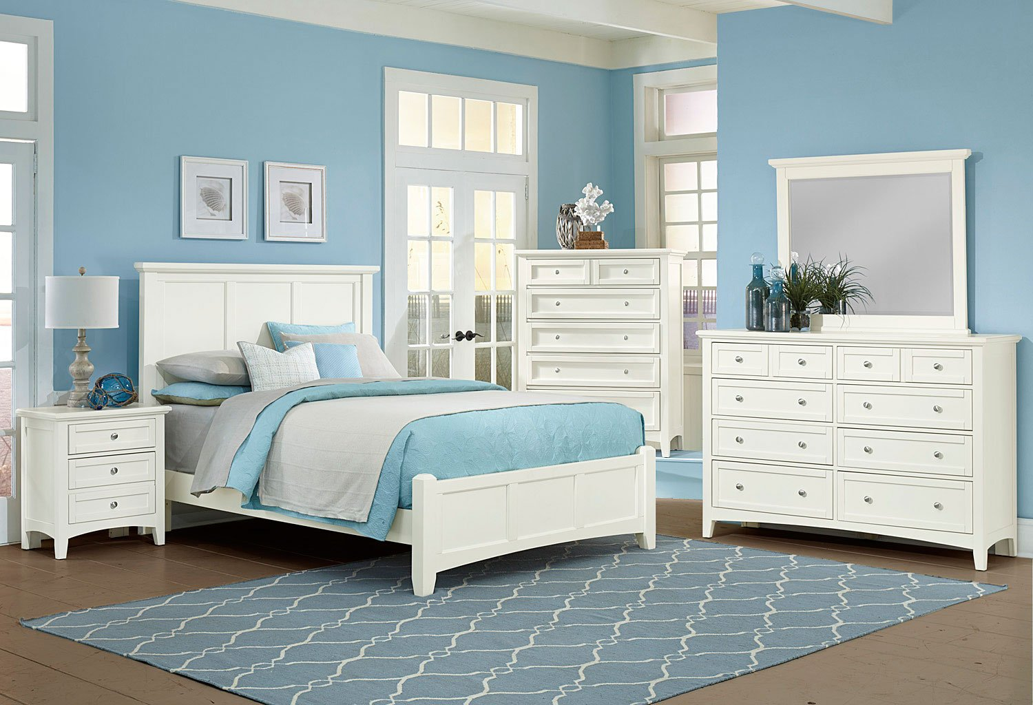 Bonanza Mansion Bedroom Set (White) Vaughan Bassett