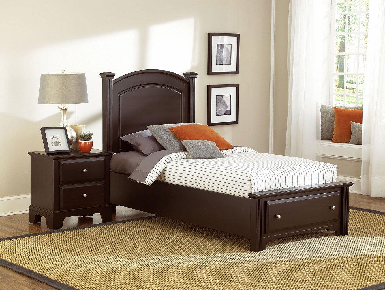 Hamilton franklin youth storage bedroom set merlot - Youth bedroom furniture with storage ...