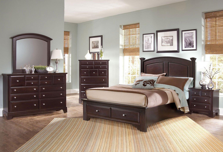 Hamilton Franklin Storage Bedroom Set Merlot Vaughan