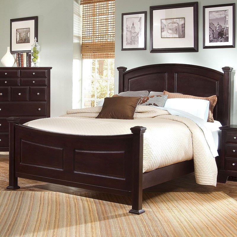 Hamilton Franklin Panel Bed (Merlot)