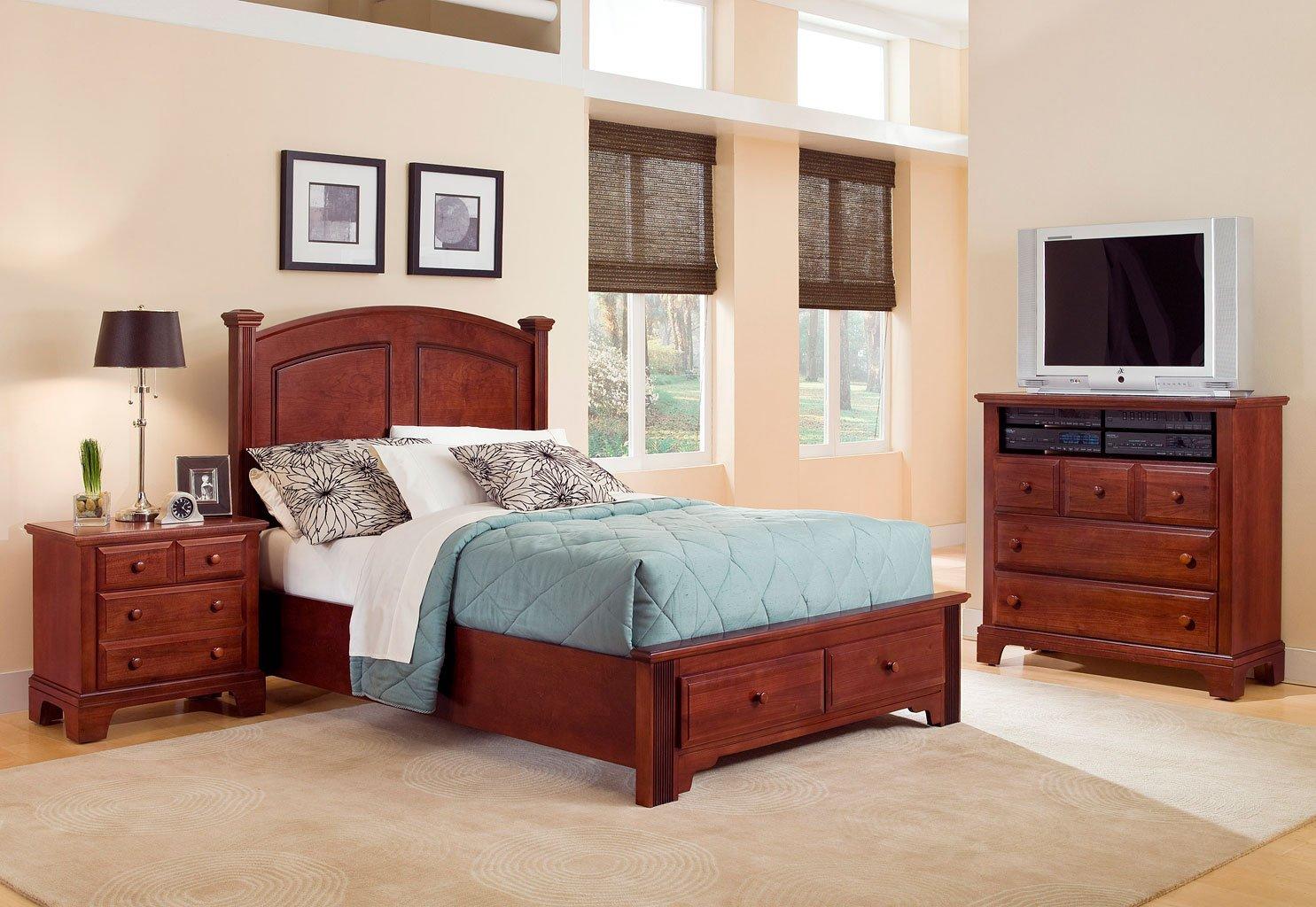 Hamilton franklin storage bedroom set cherry vaughan - Bassett bedroom furniture 1970 s ...