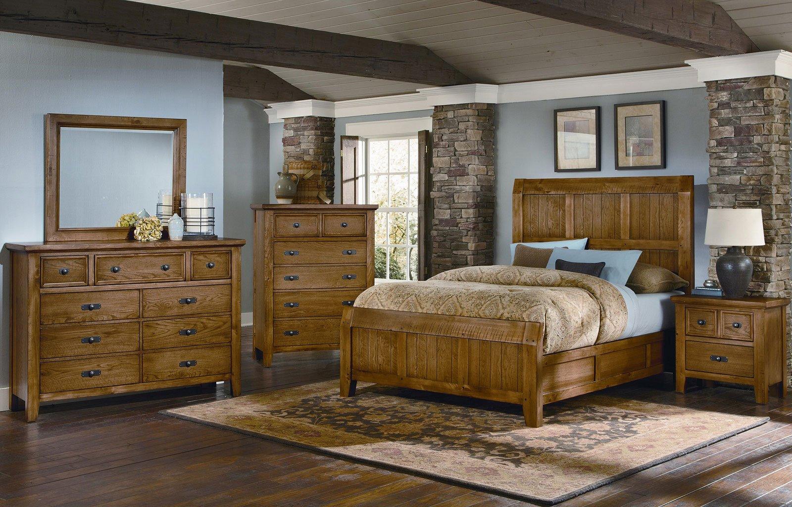 Timber Mill Timber Bedroom Set (Oak)