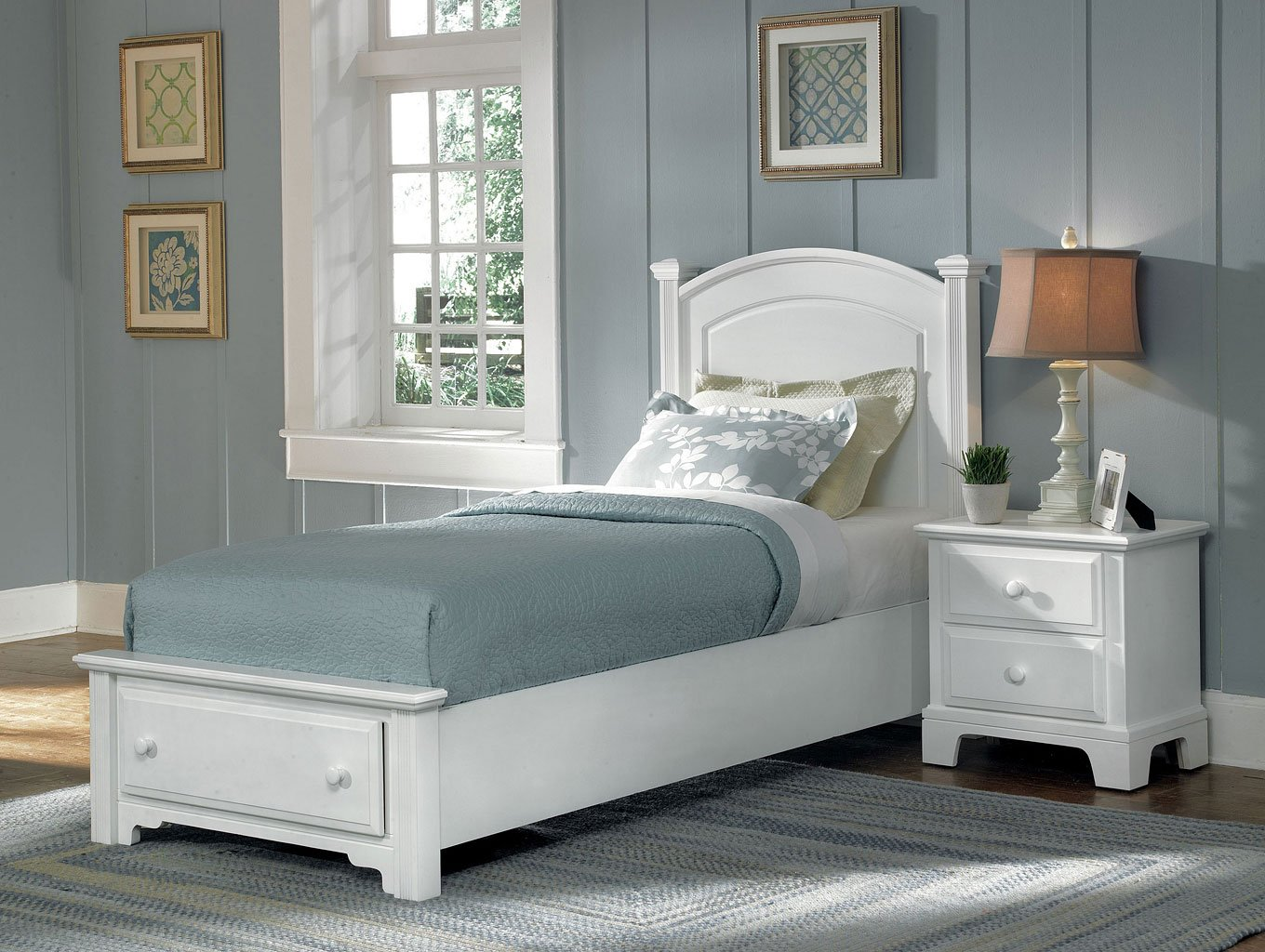 Hamilton franklin youth storage bedroom set snow white - Youth bedroom furniture with storage ...