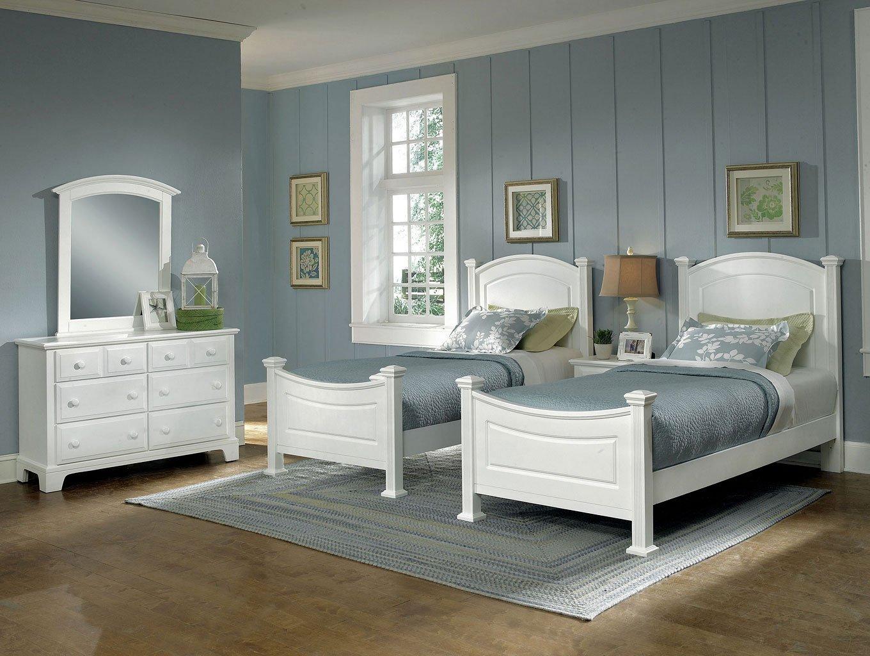 Hamilton Franklin Youth Panel Bedroom Set (Snow White)