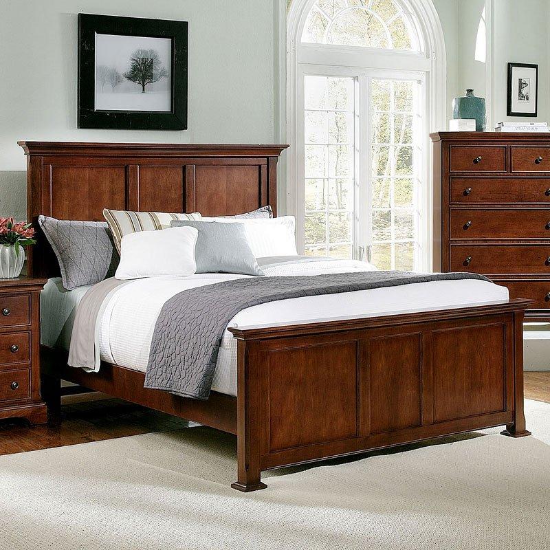 Forsyth Panel Bedroom Set (Cherry) Vaughan Bassett, 1