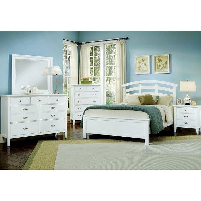 Twilight Arch Bedroom Set (White)