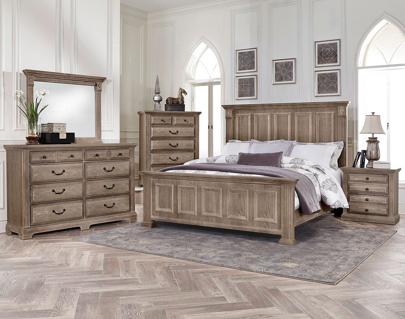 Woodlands Mansion Bedroom Set (Driftwood)