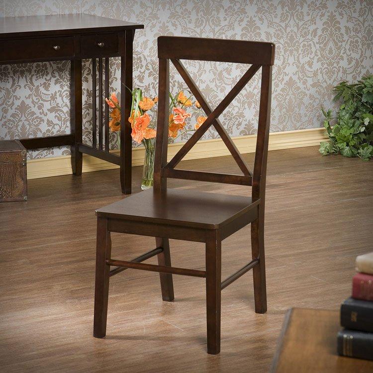 Espresso X-Back Desk Chair Southern Enterprises | Furniture Cart