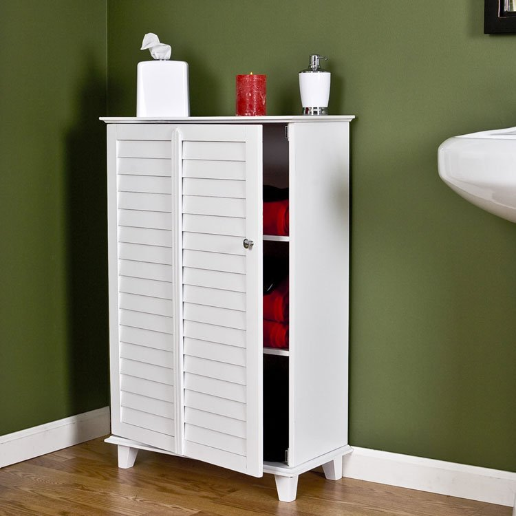 Nassau Louvered Towel Safe - White