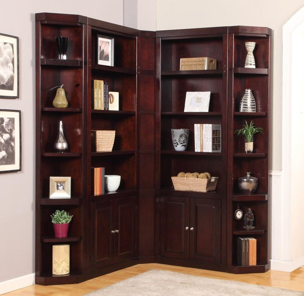 Boston Modular Corner Bookcase Wall