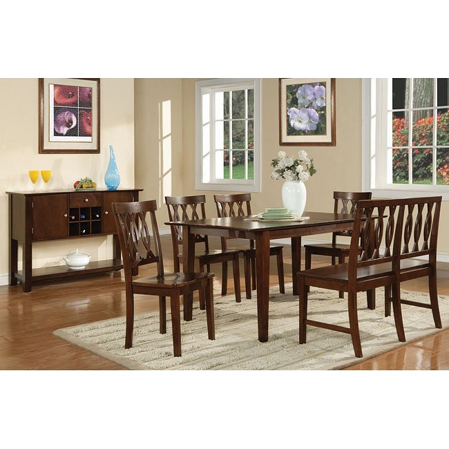 Branson Espresso Dining Room Set W Richmond Chairs Steve Silver
