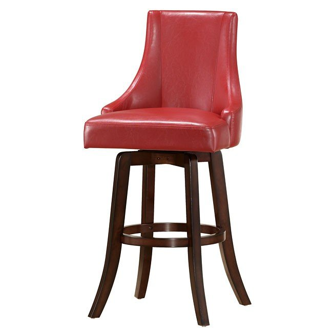 Brooks Swivel Counter Height Chair Red Set Of 2 Steve Silver