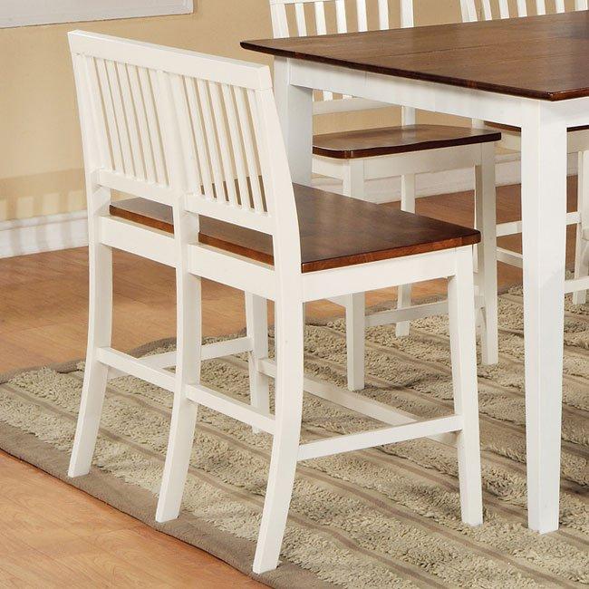 Branson Counter Height Dining Room Set White Oak Steve