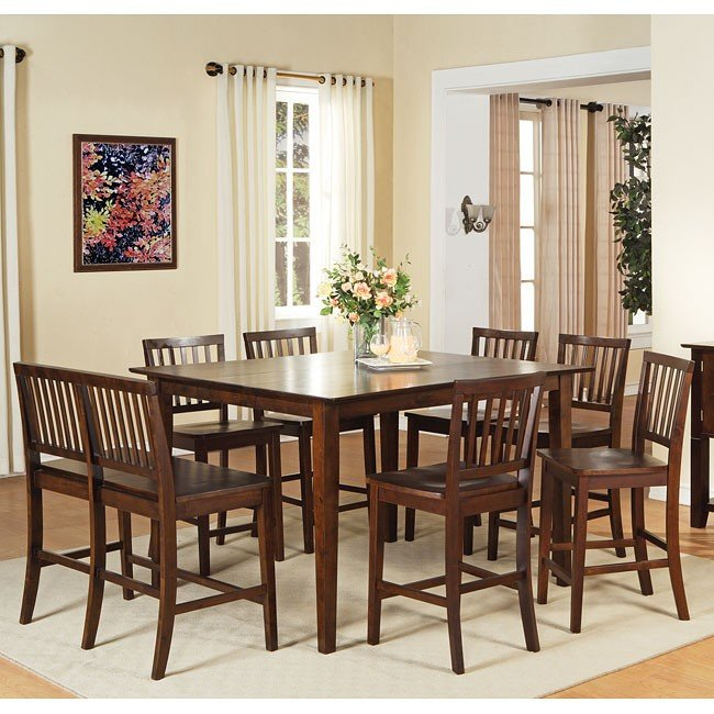 Branson Counter Height Dining Room Set Espresso Steve