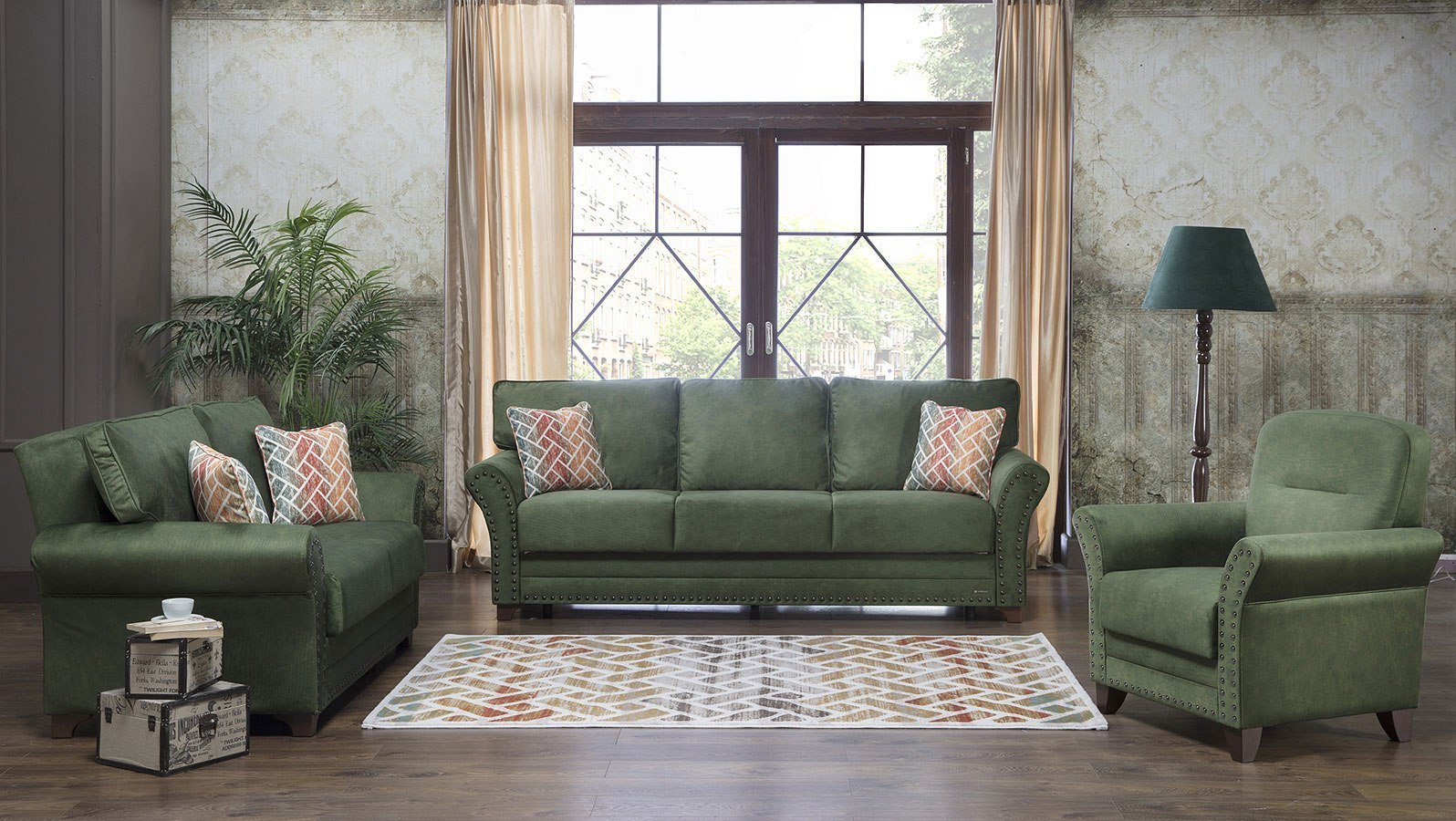 Brady Living Room Set (Samba Green)