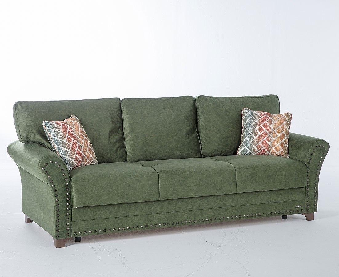 Brady 3 Seat Sleeper Samba Green Istikbal Furniture Cart