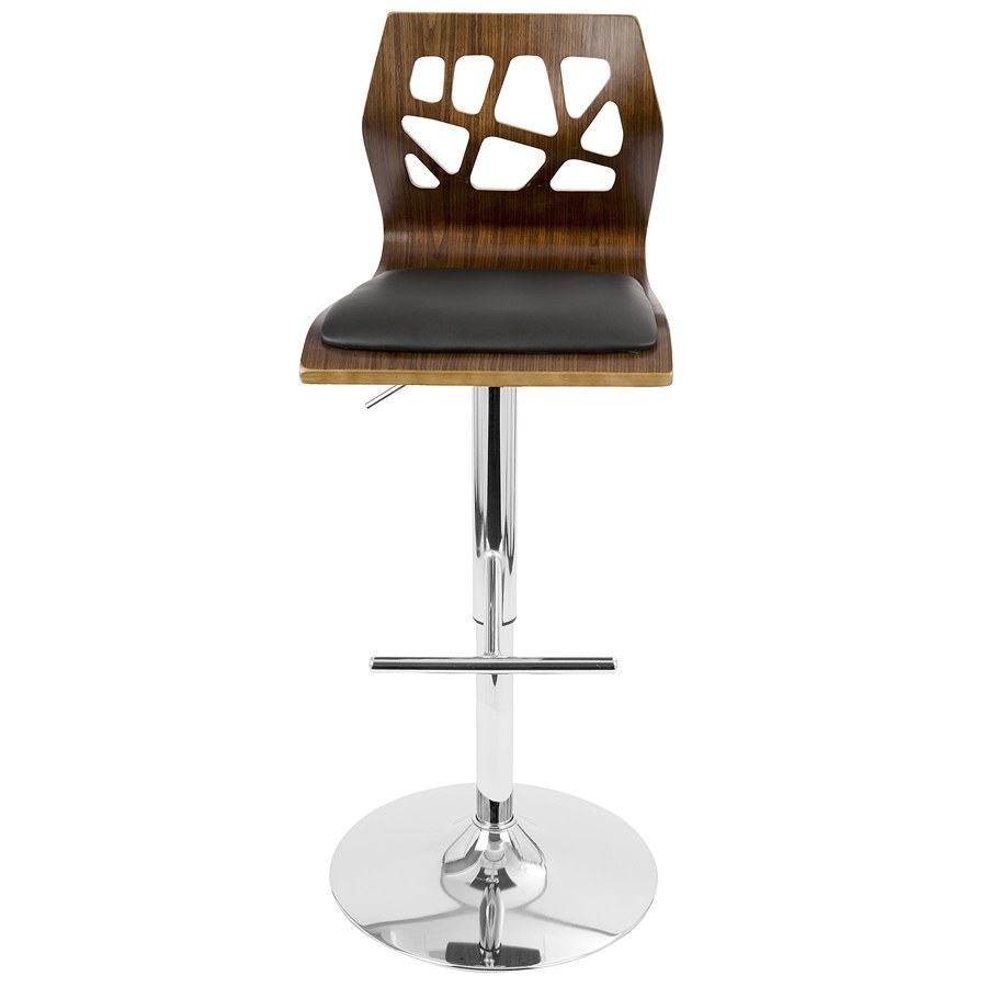 Superb Folia Adjustable Barstool Walnut Black Caraccident5 Cool Chair Designs And Ideas Caraccident5Info