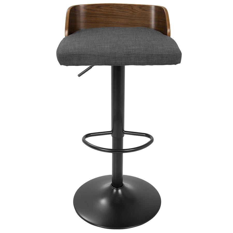 Swell Maya Adjustable Barstool Walnut Charcoal Evergreenethics Interior Chair Design Evergreenethicsorg