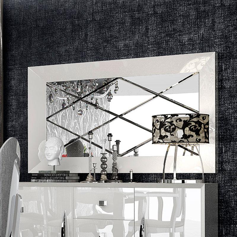 Carmen Buffet Mirror (White)