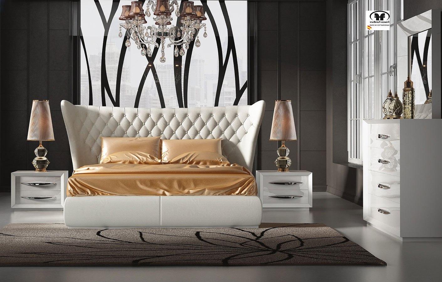 Carmen Bedroom Set (White) w/ Miami Bed