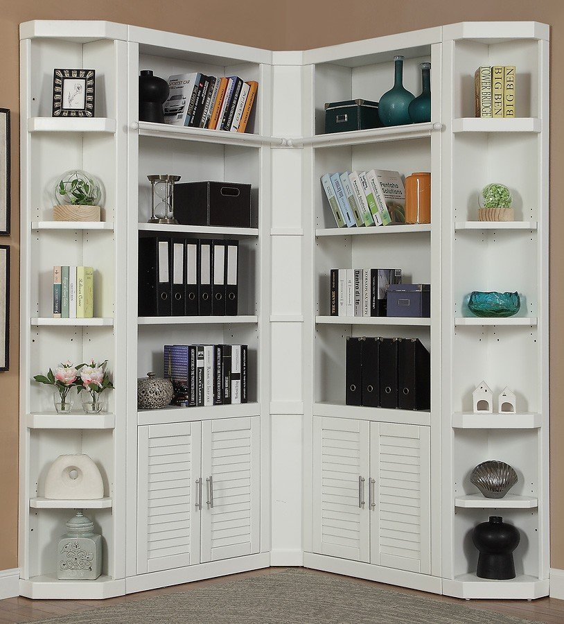 Catalina Modular Corner Bookcase Wall