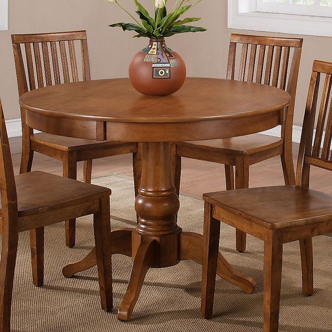 Candice Round Dining Table (Oak)