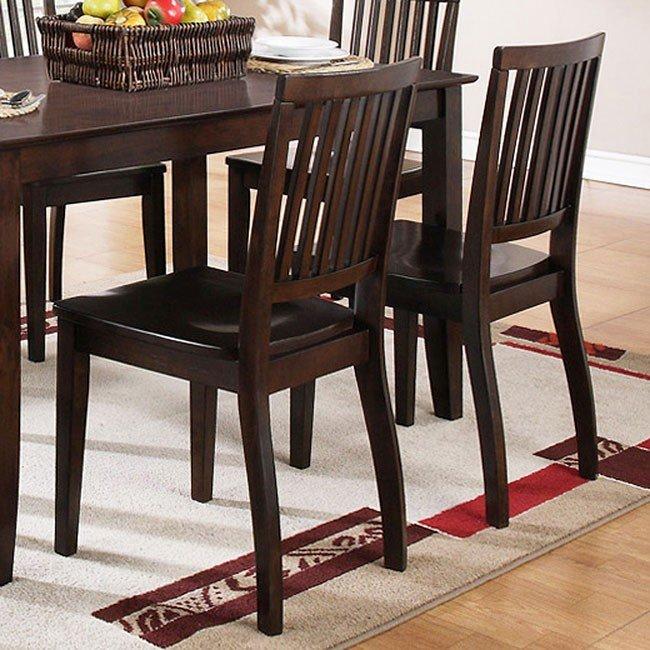 Candice Side Chair (Dark Espresso) (Set Of 2) By Steve Silver Furniture