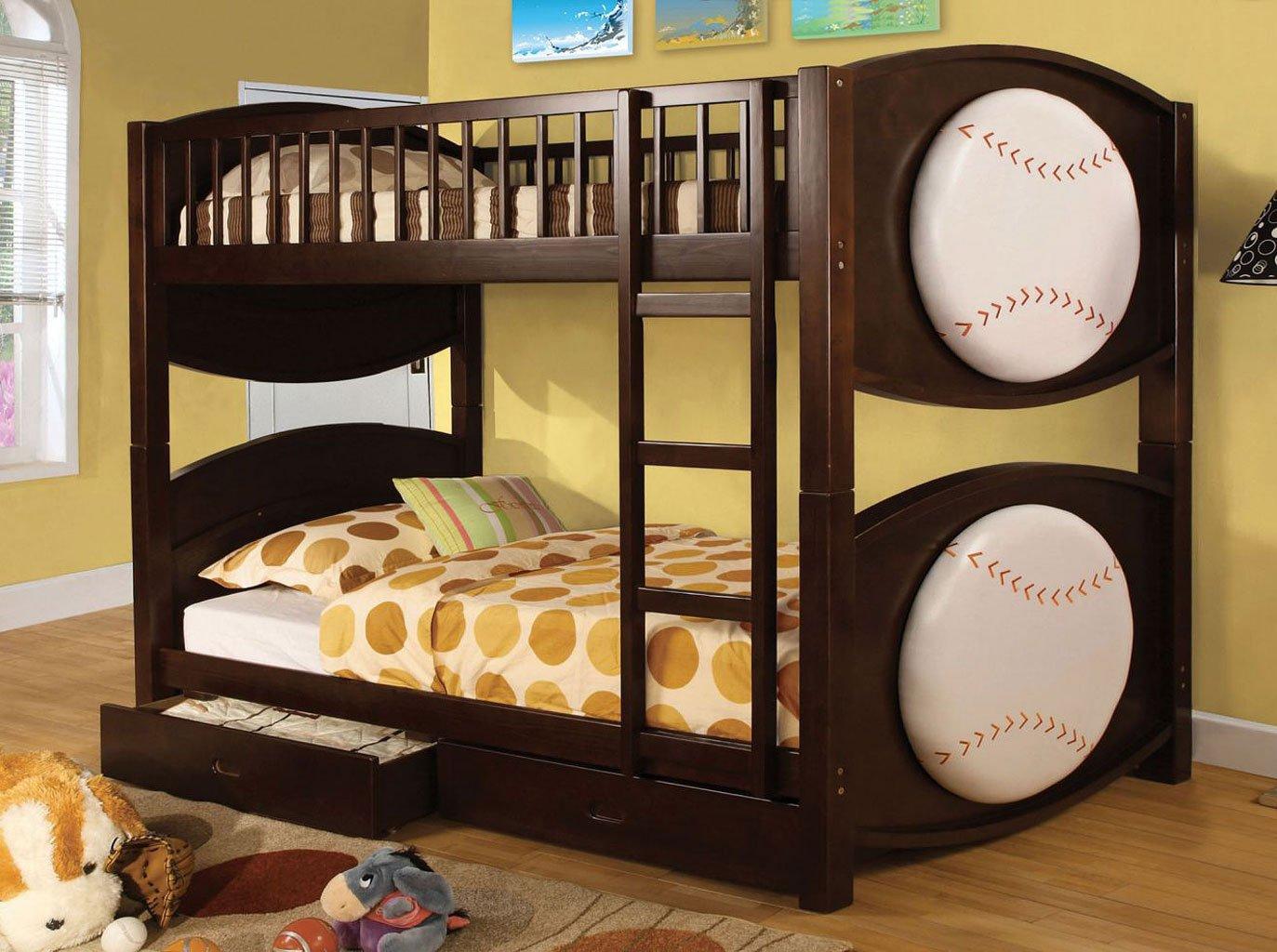 Omnus Bedroom Set W/ Olympic Bunk Bed (Baseball Design