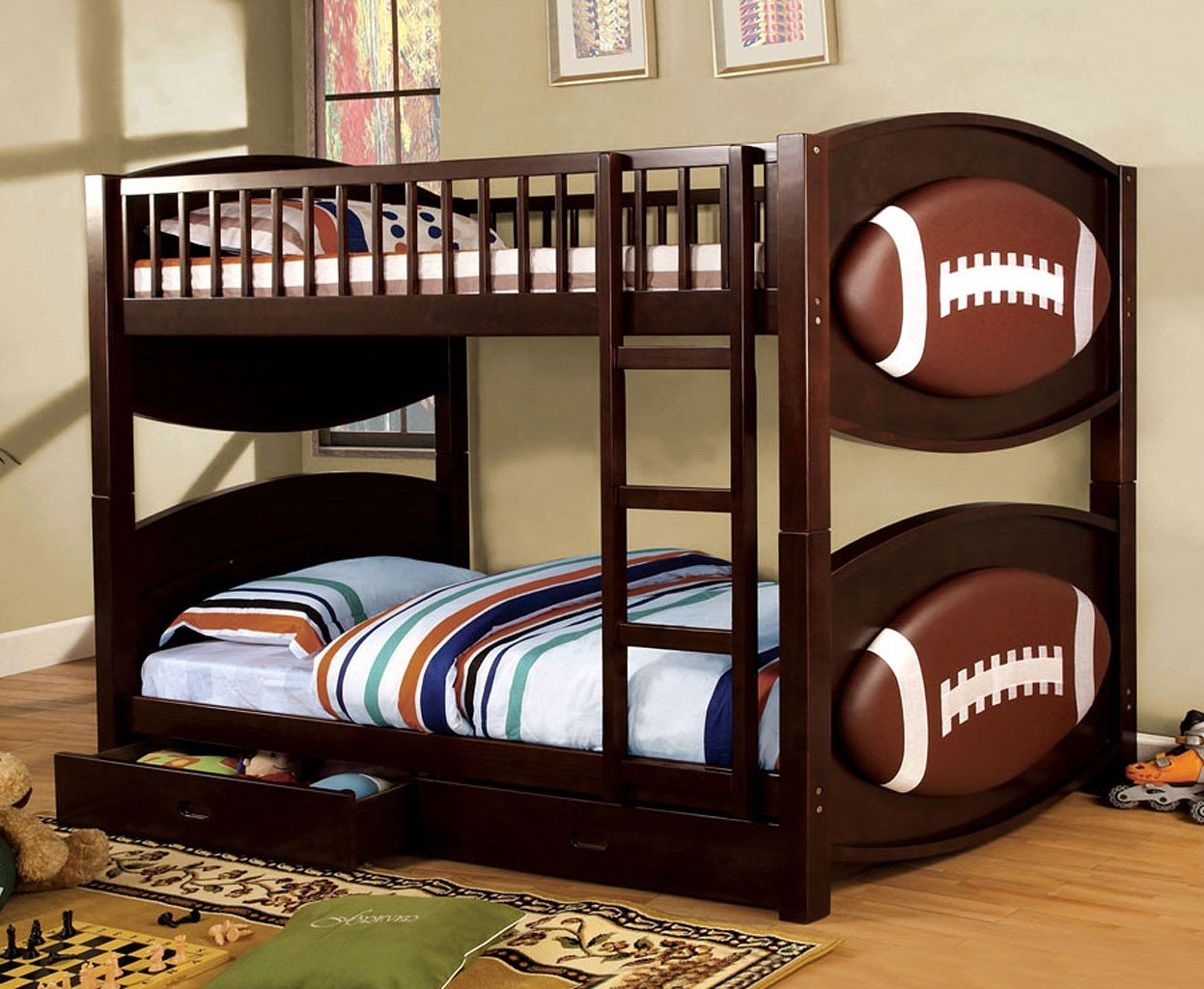 Omnus Bedroom Set w/ Olympic Bunk Bed (Football Design)