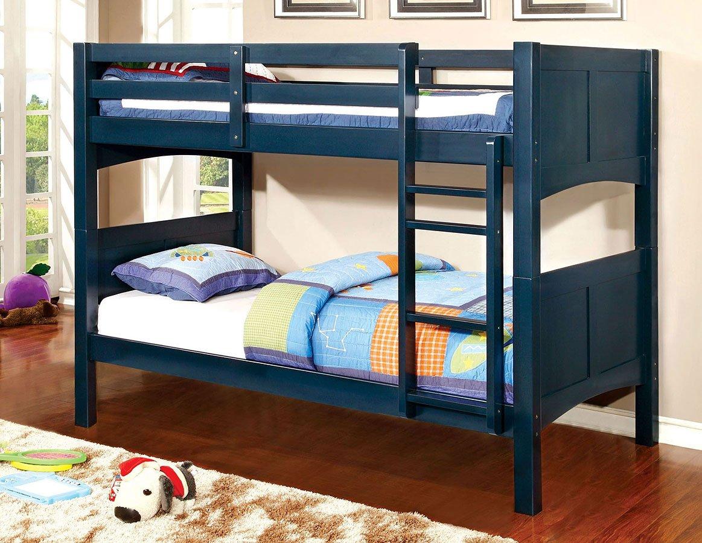 Prismo II Bunk Bedroom Set (Blue) Furniture Of America
