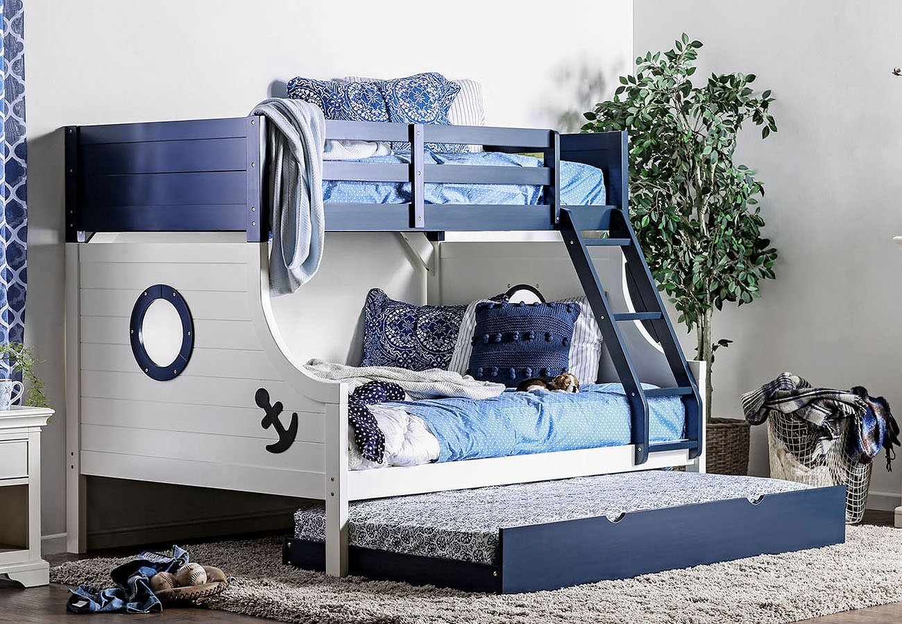 Nautia Twin Over Full Bunk Bedroom Set Furniture Of America 2
