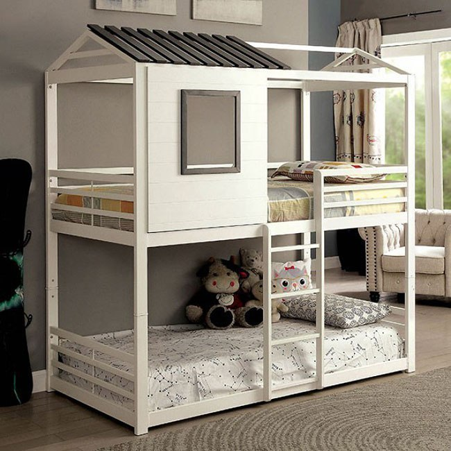 Stockholm Twin Over Twin Bunk Bed Furniture Of America Furniture Cart