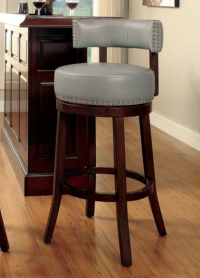 shirley 25-inch swivel bar stool (gray) (set of 2) furniture of 25 Inch Bar Stools