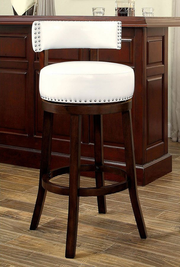 Superb Shirley 30 Inch Swivel Bar Stool White Set Of 2 Andrewgaddart Wooden Chair Designs For Living Room Andrewgaddartcom