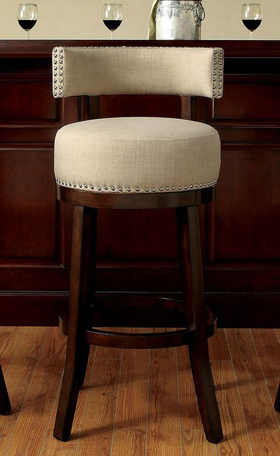 Lynsey 25 Inch Swivel Bar Stool Beige Set Of 2 Furniture Of
