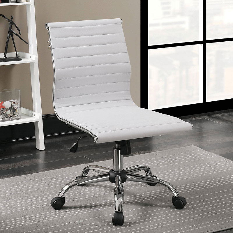 Armour Armless Office Chair White