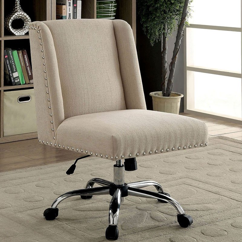 Lisette Office Chair Ivory Furniture Of America Furniture Cart