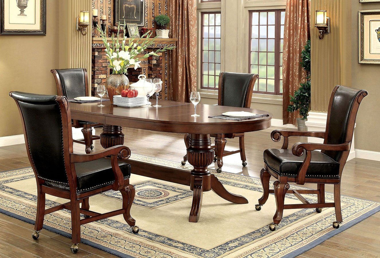 Melina Brown Game Table Set