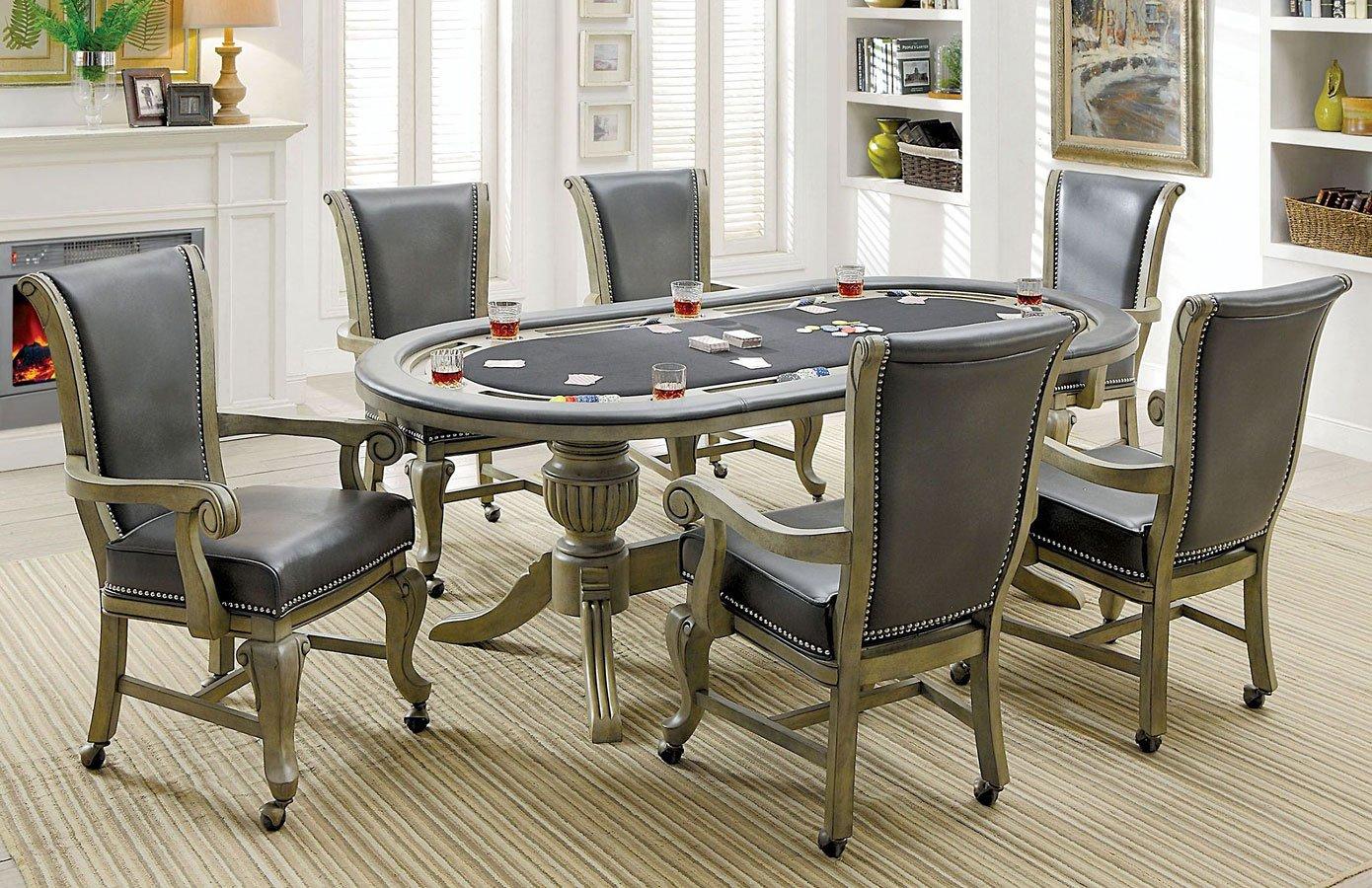 Melina Gray Game Table Set