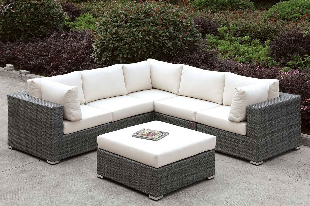 Somani Outdoor L Shaped Sectional Set
