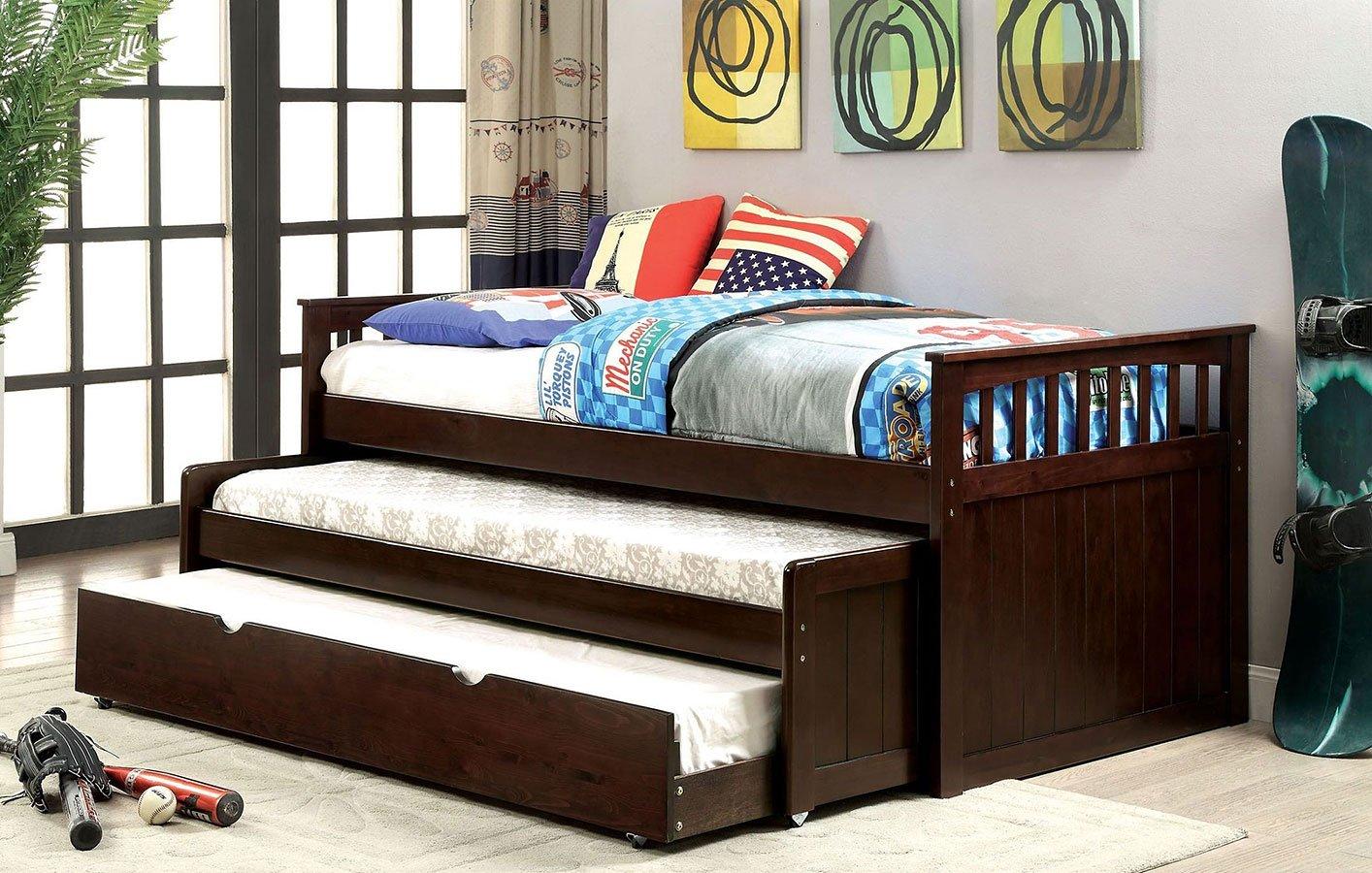 Gartel nesting daybed w trundle furniture of america furniture cart