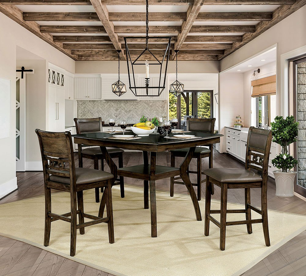 Flick Counter Height Dining Room Set Furniture Of America