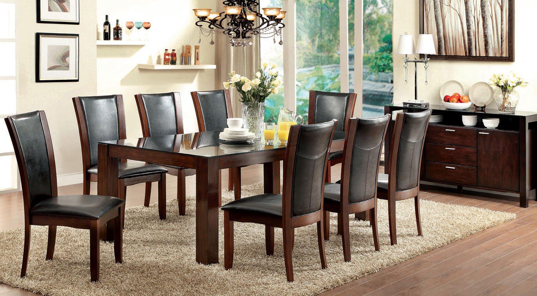 Astoria I Dining Room Set W/ Manhattan Chairs (Black)