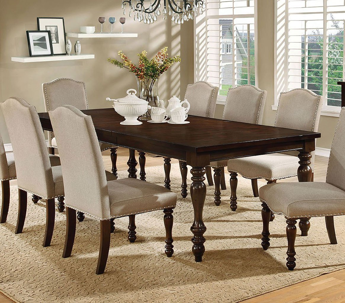 hurdsfield dining room set furniture of america furniture cart. Black Bedroom Furniture Sets. Home Design Ideas