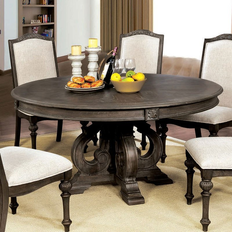 Ashley Furniture Arcadia: Arcadia Round Dining Table Furniture Of America
