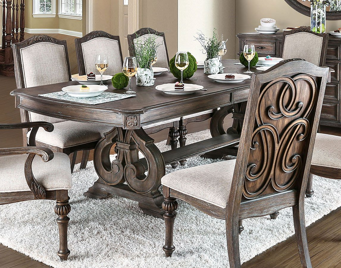 arcadia dining room set furniture of america 2 reviews furniture cart. Black Bedroom Furniture Sets. Home Design Ideas