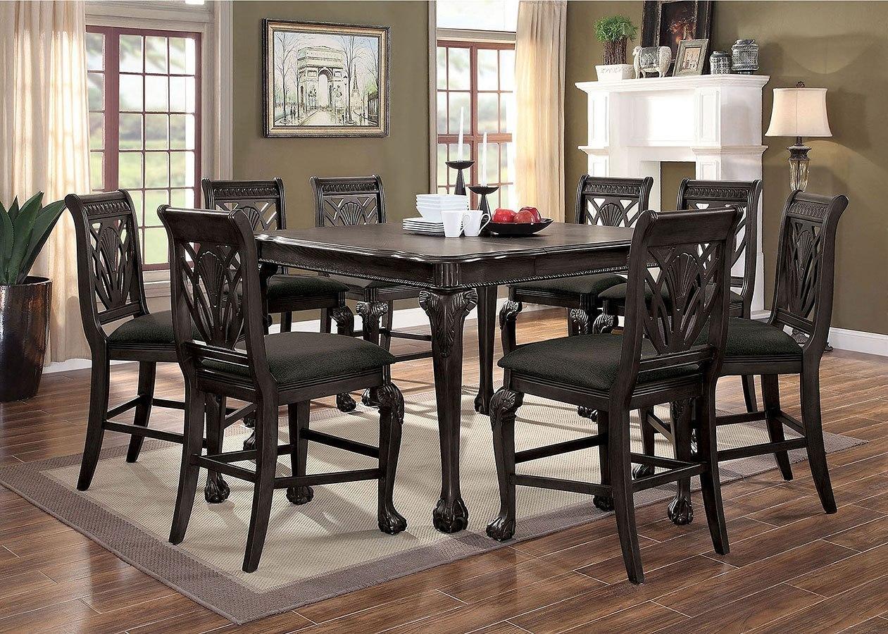 Petersburg Counter Height Dining Set (Dark Gray) Furniture