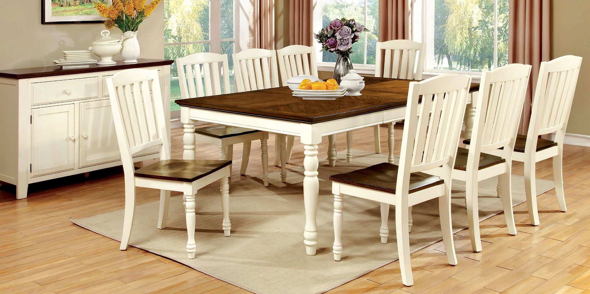 harrisburg dining room set furniture of america furniture cart. Black Bedroom Furniture Sets. Home Design Ideas
